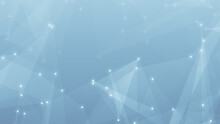 Abstract Technology And Science Polygonal Space Low Poly Background Tone Blue Gray With Connecting Dots And Lines.