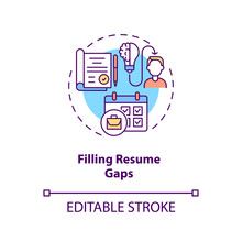 Filling Resume Gaps Concept Icon. More Experience Idea Thin Line Illustration. Transition Job Pros. Better Do Something Than Nothing. Vector Isolated Outline RGB Color Drawing. Editable Stroke
