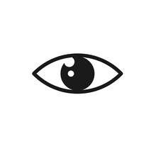 Eye Icon Isolated On White Backgground. Vision Icon Concept. Vector Stock