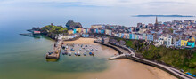 An Aerial View Of Tenby, South Wales In Springtime