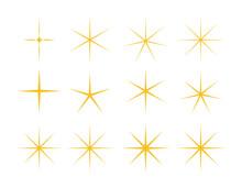 星のベクターイラスト キラキラ