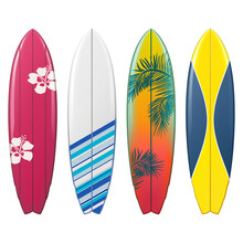 Vector Surfboard Icons Set 2