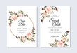 Watercolor floral for beautiful wedding invitation template