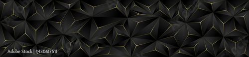 Elegant, modern and abstract dark and yellow polygon background texture. Premium design. - fototapety na wymiar