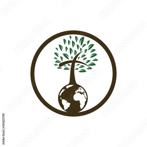 Obraz na plátně Global church vector logo design template