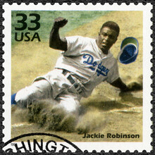 UNITED STATES OF AMERICA - 1999: Shows Jackie Jack Roosevelt Robinson (1919-1972), Baseball Player, Series Celebrate The Century, 1940s, 1999