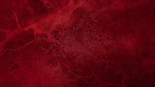Luxury Italian Red Stone Pattern Background. Red Stone Texture Background With Beautiful Soft Mineral Veins. Dark Red Color Marble Natural Pattern For Background, Exotic Abstract Limestone.