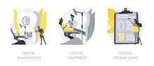 Dental Care Service Abstract Concept Vector Illustrations.