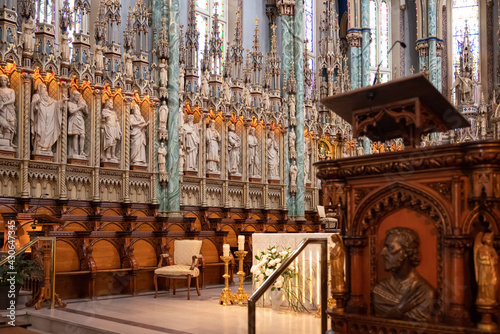 Fotografie, Tablou Interior of Notre-Dame Cathedral Basilica is a Roman Catholic minor basilica in