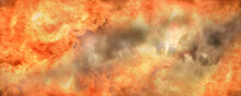 All-consuming Raging Fire That Engulfed All Space