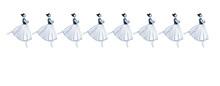 Banner Vintage Con Ballerine Classiche Isolate Su Sfondo Bianco
