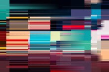 Modern Background With Dead Pixel And Bug, Glitch And Error Signal. Optical Distortion, Overlapping Geometric. It Can Be Used For Web Design, Printed Products And Visualization Of Music.