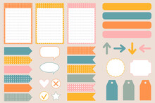 Set Of Scrapbooking Stickers, Frames, Cards