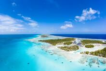 Aerial View Of The Tikehau Atoll, Tuamotu Islands, French Polynesia