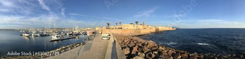 seafront bastion in alghero, sardinia, italy Fototapete