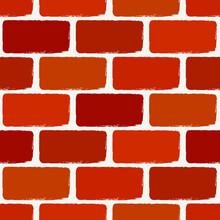 Brick Wall Motif Handdrawn Classic Geometric Print. Paint Brush Strokes Seamless Pattern. Freehand Grunge Design Background. Modern Urban Ornament