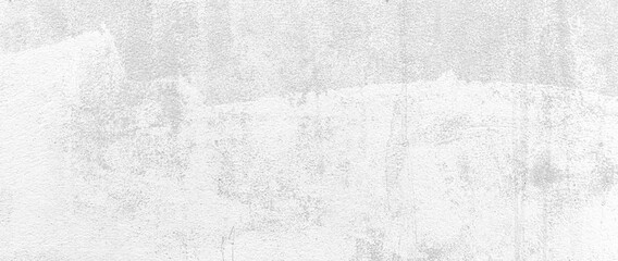 Panorama of Old cement wall painted white peeling paint texture and background seamless