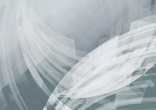 カーブする図形が重なる灰色の抽象背景