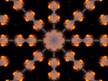 Kaleidoscope In Black And Orange