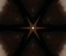 Kaleidoscope In Blackish Brown And Dark Grey