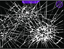 Set Of Broken Glass, Cracks, Bullet Marks On Glass. Broken Glass, Cracks, Bullet Marks On Glass. High Resolution. Texture Glass With Black Hole.