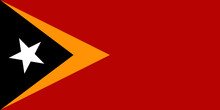 Flag Of East Timor Vector - Editable Flags And Maps