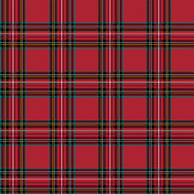 Tartan Vector Seamless Pattern Retro Background Fabric. Square Geometric Texture For Textile Print, Wrapping Paper, Gift Card, Wallpaper And Others.