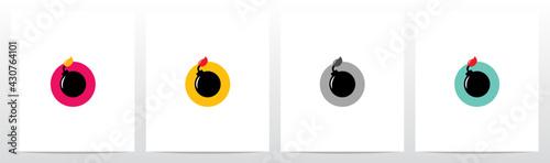 Obraz na plátně Time Bomb On Letter Logo Design O