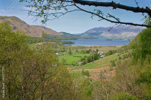 Fotomural View towards Derwent Water from Troutdale.