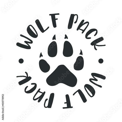Obraz na plátně Wolf Pack Illustration Badge Sign