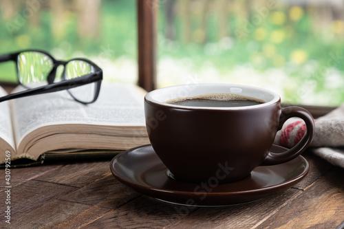 Fototapeta Cup of Coffee and Book obraz