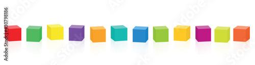 Murais de parede Colored cubes