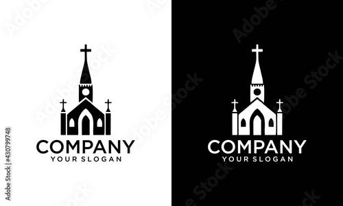 Foto Christian Church Jesus Cross Gospel logo design inspiration