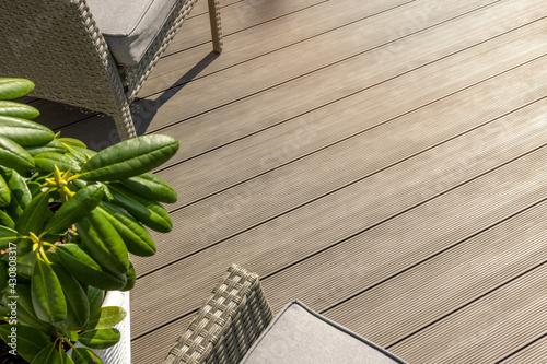 Fotografering wpc terrace. wood plastic composite decking boards