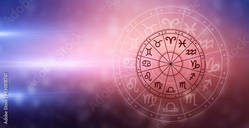 Tela Zodiac signs inside of horoscope circle