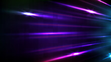 Abstract Futuristic Background Of Sci Fi Technology Fast Moving Neon Speed Line