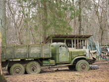 Old Truck In The Forest