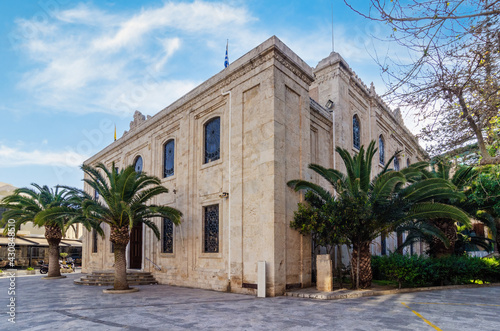 Heraklion, Crete Island, Greece: The church of Agios Titos is an Orthodox church in Heraklion, dedicated to Saint Titus Wallpaper Mural