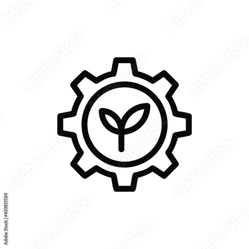 Photo agronomy line icon vector illustration