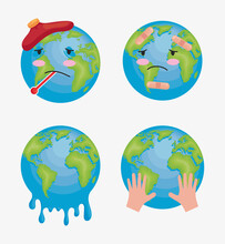 Four Global Warming Icons