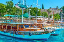 The Moored Ships In Antalya Port, Turkey