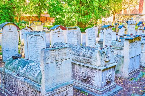 Fototapeta Old Jewish Cemetery In Krakow, Poland obraz