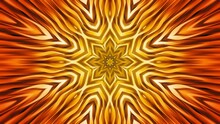Gold Floral Abstract Background