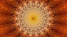 Orange Mandala Abstract Background