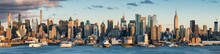 Manhattan Skyline Panorama, New York City, USA