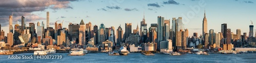 Leinwand Poster Manhattan skyline panorama, New York City, USA