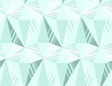 Seamless Vector Pattern From Gems Similar To Diamonds. Simple And Trendy Texture Background With Crystals