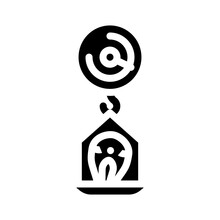 Scales With Fish Glyph Icon Vector. Scales With Fish Sign. Isolated Contour Symbol Black Illustration