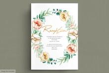 Romantic Watercolor Peonies Wedding Card Set