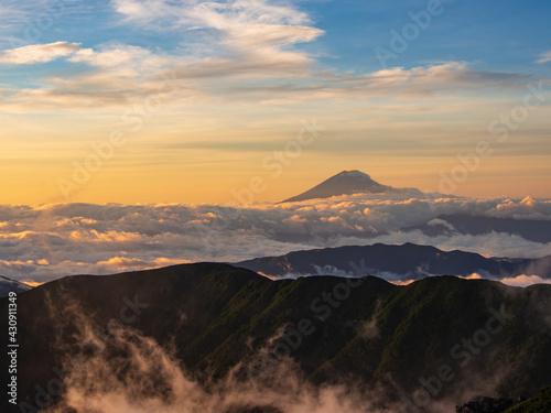 Stampa su Tela 北岳から見える富士山